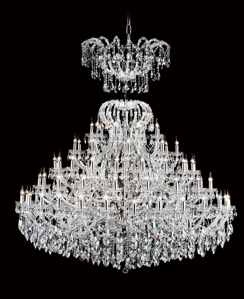 "6630 Crystal Pendant Light - 79"" 90 Light - Asfour Crystal Chandelier [6630(103)-79""-27+18+18+9+9L+(9L)-873]"