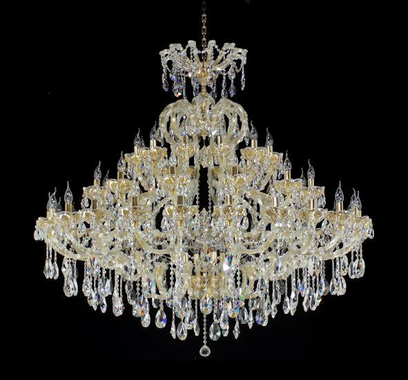 "6630 Crystal Pendant Light - 64"" 54 Light - Asfour Crystal Chandelier [6630(A15)-64""-24+12+12L+(6L)-873]"