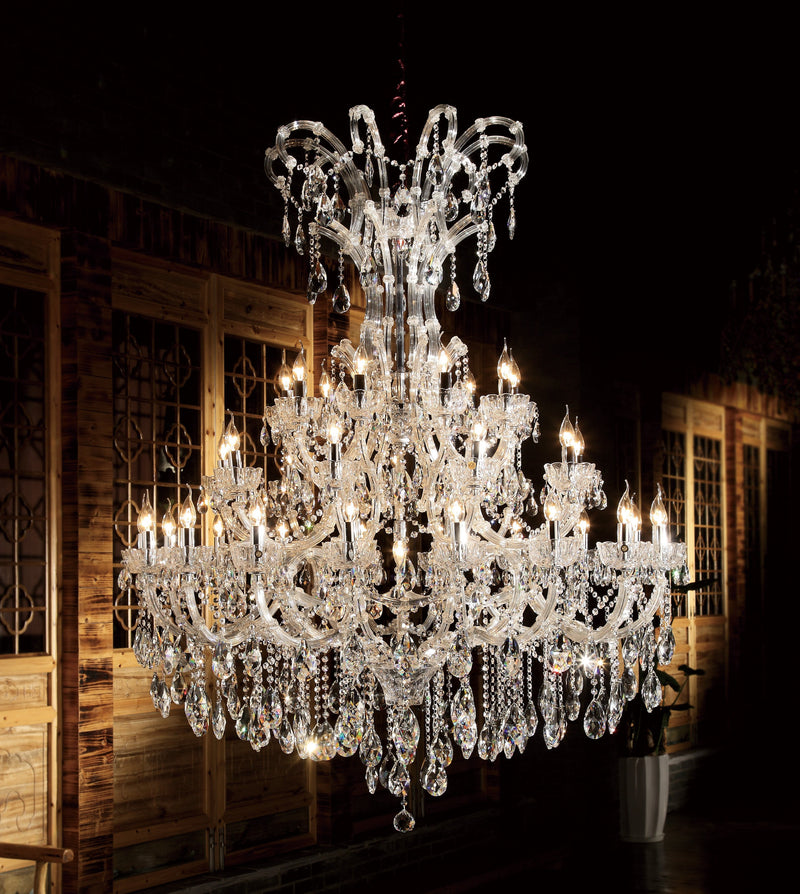 "6688 Crystal Pendant Light - 55"" 39 Light - Asfour Crystal Chandelier [6688(7723C)-55""-18+9+9L+(3L)-873]"