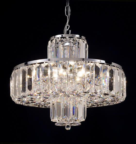 "683 Crystal Pendant Light - 18"" 8 Light - Asfour Crystal Chandelier [683-18""-610-4""-68]"