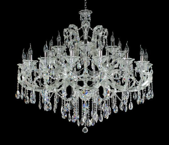 "6950 Crystal Pendant Light - 49"" 28 Light - Asfour Crystal Chandelier [6950(D17)-49""-16+8+(4L)-873]"