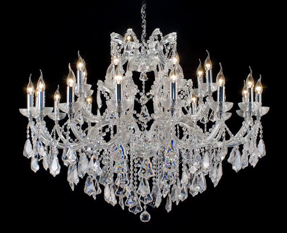 "6952 Crystal Pendant Light - 47"" 24 Light - Asfour Crystal Chandelier [6952(203)-47""-16+8L-917]"