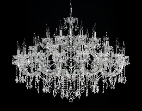 "6955 Crystal Pendant Light - 47"" 36 Light - Asfour Crystal Chandelier [6955(A31)-47""-16+8+8L+(4L)-915]"