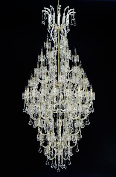 "6973 Crystal Pendant Light - 47"" 84 Light - Asfour Crystal Chandelier [6973(D68)-47""-3+6+12+12+18+12+6+6+3L+(6L)-911]"
