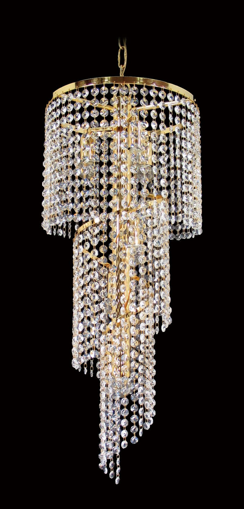 "701 Crystal Pendant Light 12"" 6 Light - Asfour Crystal 14mm Beads - Chandelier [701-12""-14mm]"