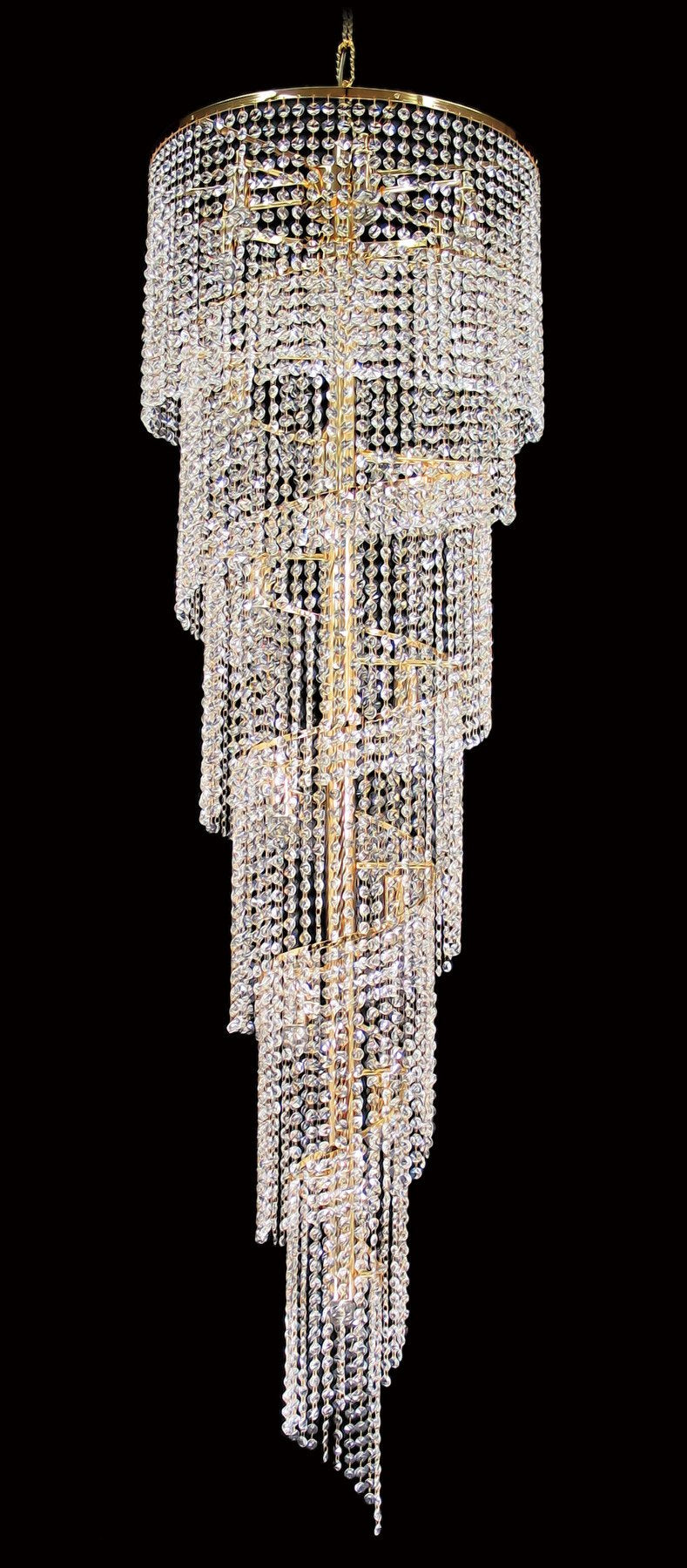 "701 Crystal Pendant Light - 20"" 17 Lights - Asfour Crystal 14mm Beads - Chandelier [701-20""-14mm]"