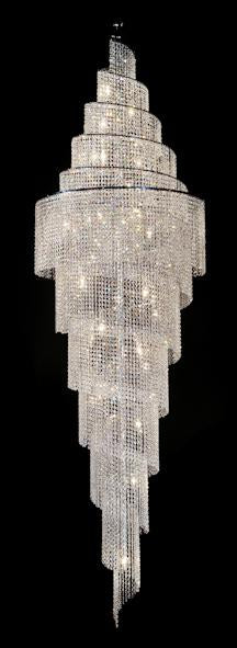"7018 Crystal Pendant Light - 32"" 30 Light - Asfour Crystal Chandelier  [7018-32""x110""-14mm]"