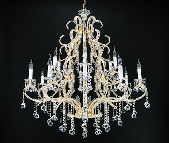 "7093 Crystal Pendant Light - 48"" 21 Light - Asfour Crystal Chandelier [7093-48""-12+6L-1036+701]"
