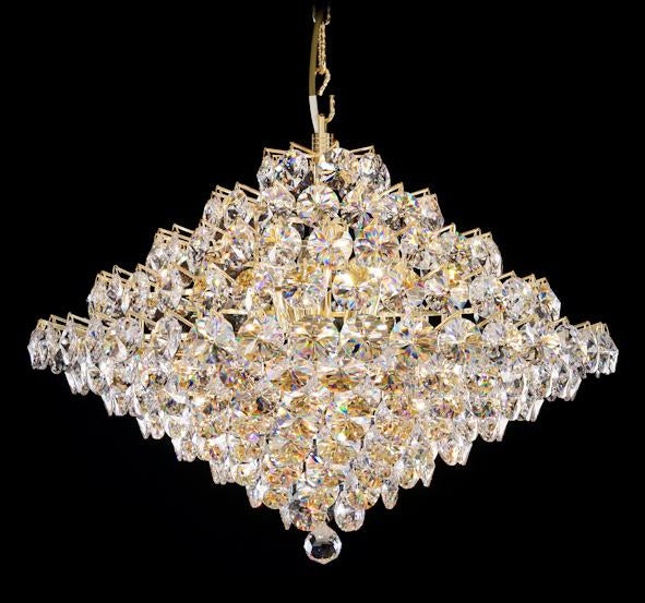 "8033 Crystal Pendant Light - 24.5"" 15 Light - Asfour Crystal Chandelier [8033-24.5""-1040-260 (1040-45mm)]"