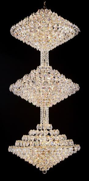 "8033 Crystal Pendant Light - 27.5"" 45 Light - Asfour Crystal Chandelier [8033-27.5""-1040-45mm-3LAYERS]"