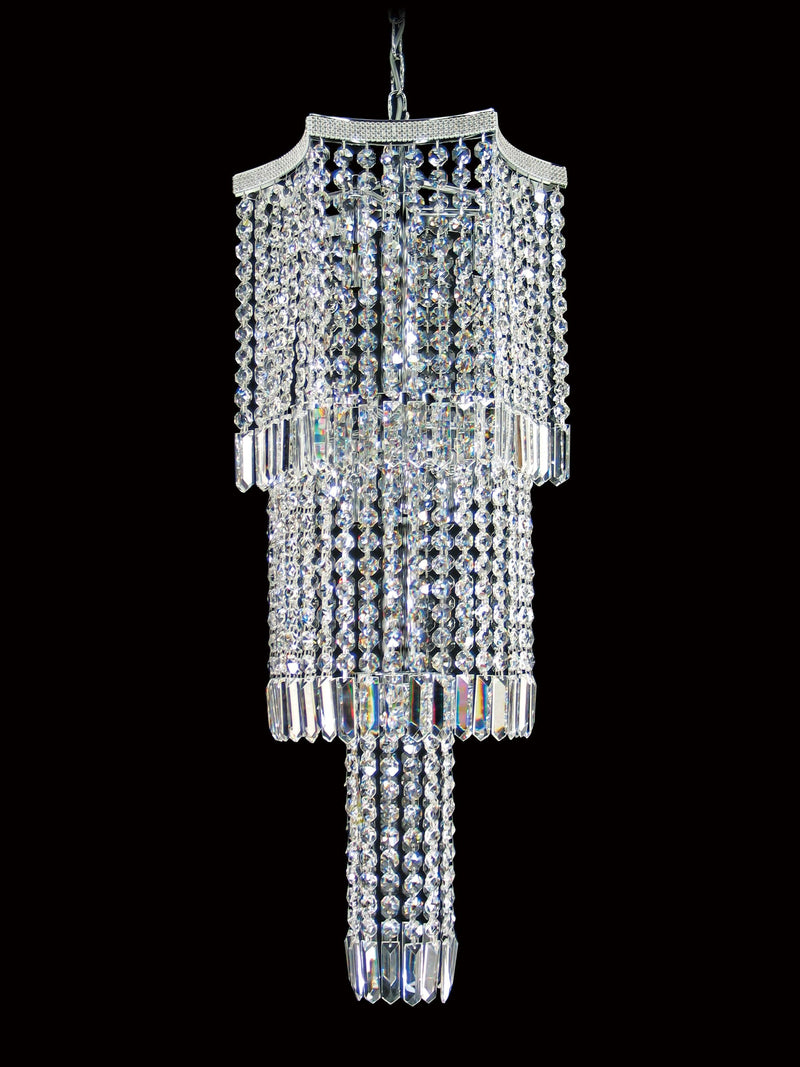 "8081 Crystal Pendant Light 14"" 7 Light - Asfour Crystal Chandelier [8081-14""-18mm]"