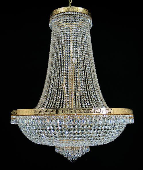 "8617 Crystal Pendant Light - 39"" 24 Light - Asfour Crystal Chandelier [8617-39""-8016]"