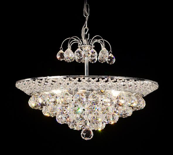 "940 Crystal Pendant Light - 19"" 8 Light - Asfour Crystal Chandelier [940F-19""-40mm]"