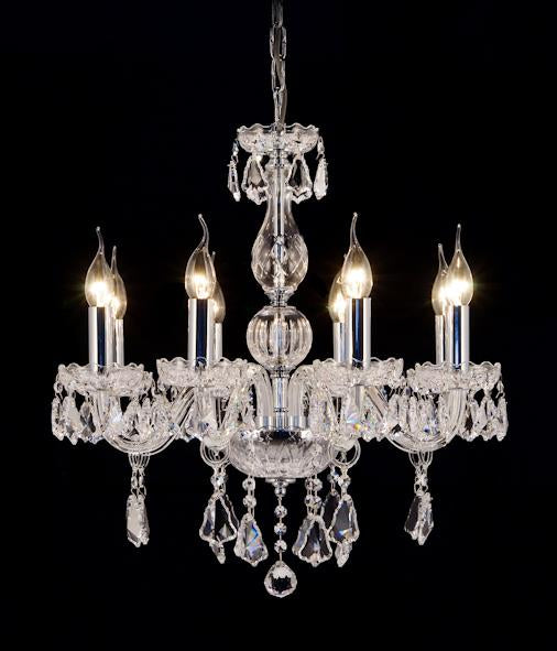 "9808 Crystal Pendant Light - 22"" 8 Light - Asfour Crystal Chandelier [9808(AG941)-22""-8L-1088+917]"