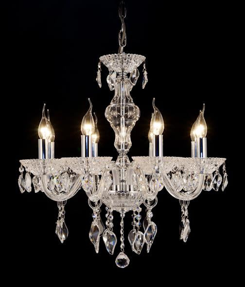 "9816 Crystal Pendant Light - 23"" 8 Light - Asfour Crystal Chandelier [9816(A53)-23""-8L-1088+922]"