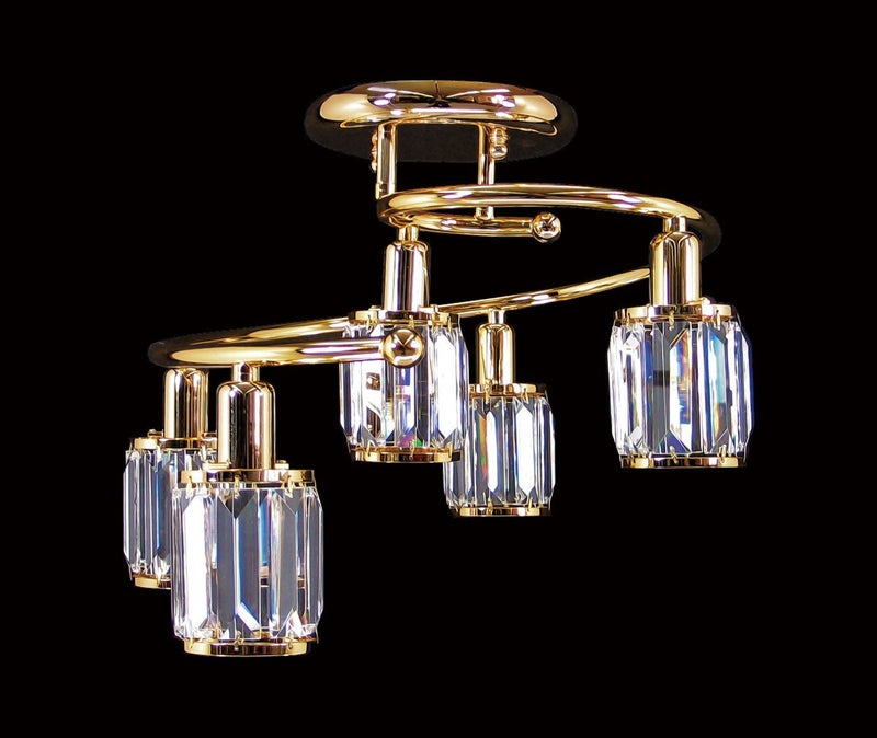 "073 Crystal Flush Mount Light - 18"" 5 Light - Asfour Crystal [C-073-5L-610-40]"