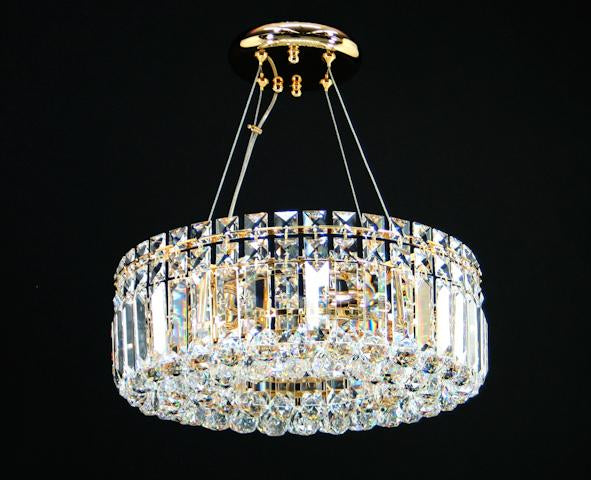 "100 Crystal Pendant Light 15"" 4 Light - Asfour Crystal Chandelier [C-100-15""-4L-30mm]"