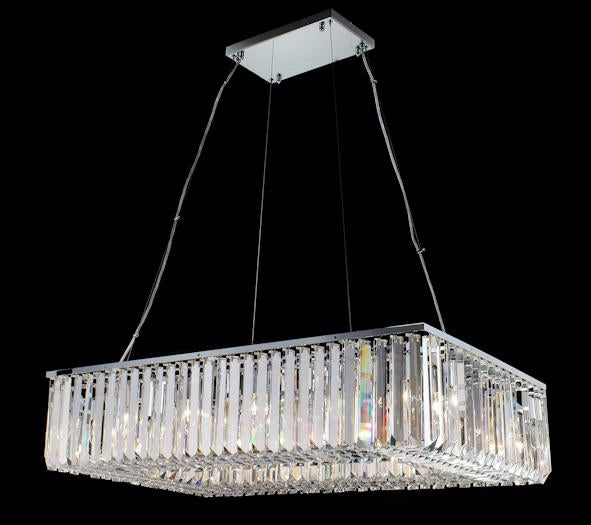 "102 Crystal Pendant Light 39.5"" Rectangle 16 Light - Asfour Crystal Chandelier [C-102(RE)-39.5""x23.5""-TR-144]"