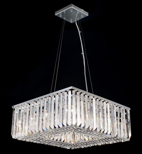 "102 Crystal Semi Flush Mount Light 23.5"" Square 12 Light - Asfour Crystal [C-102(SQ)-23.5""x23.5""-TR-96]"
