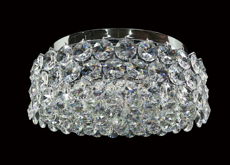 "1041 Crystal Flush Mount Light - 17"" 8 Light - Asfour Crystal [C-1041-17""-40mm-61]"