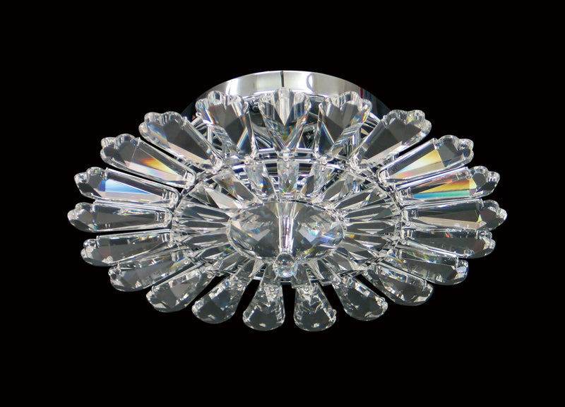 "11 Crystal Flush Mount Light 14.5"" 3 Light - Asfour Crystal [C-11-14.5""-3L-906-21]"