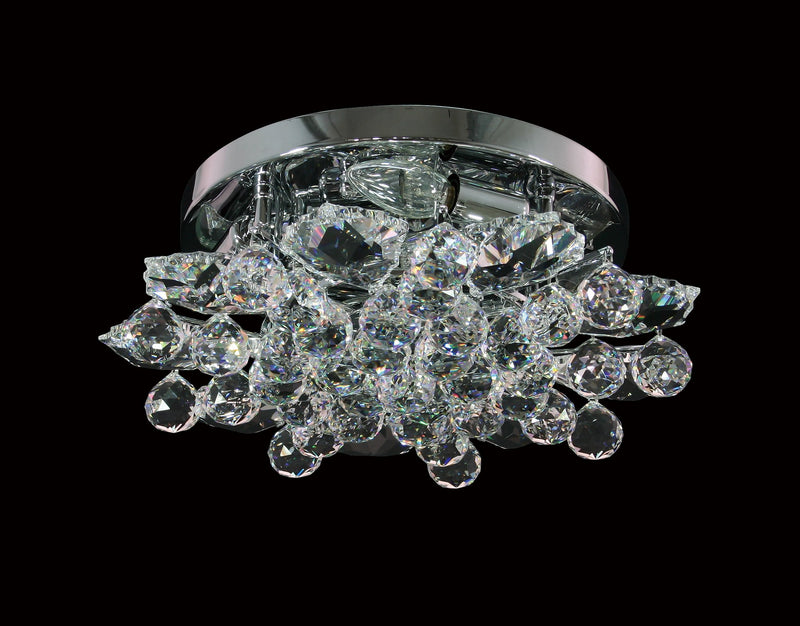 "13 Crystal Flush Mount Light 16"" Square 6 Light - Asfour Crystal [C-13-16""-911-9]"