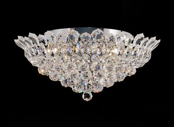 "2009 Crystal Flush Mount Light 22"" 8 Light - Asfour Crystal [C-2009-22""-40mm]"
