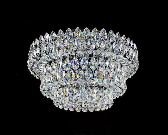 "2015 Crystal Flush Mount Light 31.5"" 20 Light - Asfour Crystal [C-2015-1-31.5""-873]"