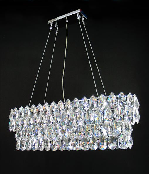"2015 Crystal Semi Flush Mount Light 42"" 12 Light - Asfour Crystal [C-2015-42""x13""-873-148]"