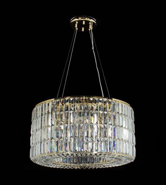 "20625 Crystal Pendant Light 25.5"" (Ht 100cm) 12 Light - Asfour Crystal Chandelier [C-20625-25.5""-611-114 Ht100cm]"