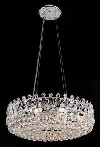 "2102 Crystal Semi Flush Mount Light 20"" 8 Light - Asfour Crystal [C-2102-20""-8L-921]"