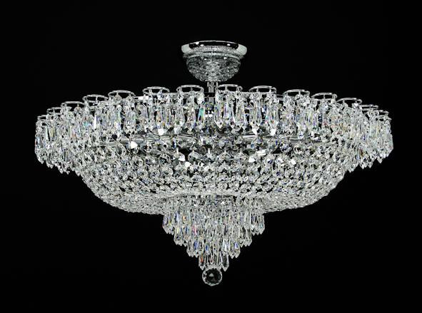 "4010 Crystal Flush Mount Light - 29"" 12 Light - Asfour Crystal [C-4010-29""-8016]"