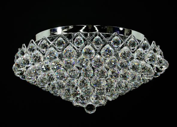 "5978 Crystal Flush Mount Light - 20"" 8 Light - Asfour Crystal [C-5978-20""-40mm]"