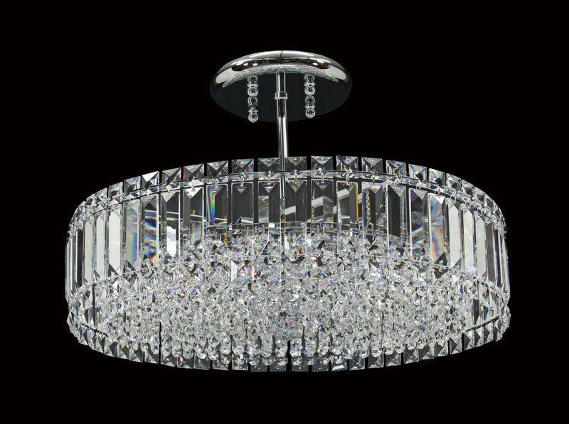 "6100 Crystal Flush Mount Light - 20"" 8 Light - Asfour Crystal [C-6100-20""-14mm]"