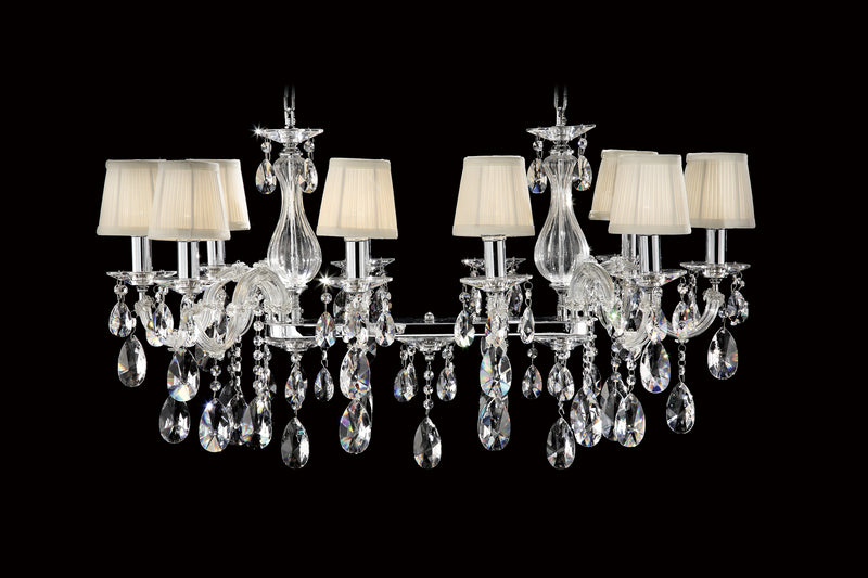 "6606 Crystal Semi Flush Mount Light - 36"" 10 Light - Asfour Crystal [C-6606-10L-1038-873+1156]"