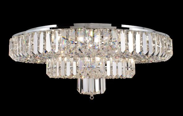 "683 Crystal Flush Mount Light - 35"" 16 Light - Asfour Crystal [C-683-35""-122-40mm-258]"