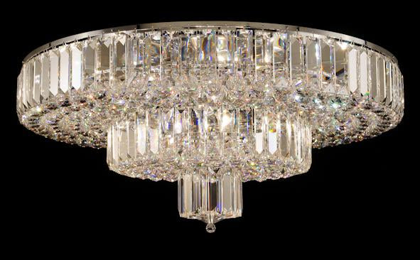 "683 Crystal Flush Mount Light - 33"" 16 Light - Asfour Crystal [C-683(610-4"")-33""-40mm-240]"