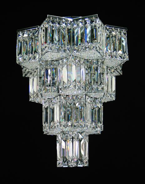 "727 Crystal Flush Mount Light - 19"" 12 Light - Asfour Crystal [C-727-19""-610-160]"