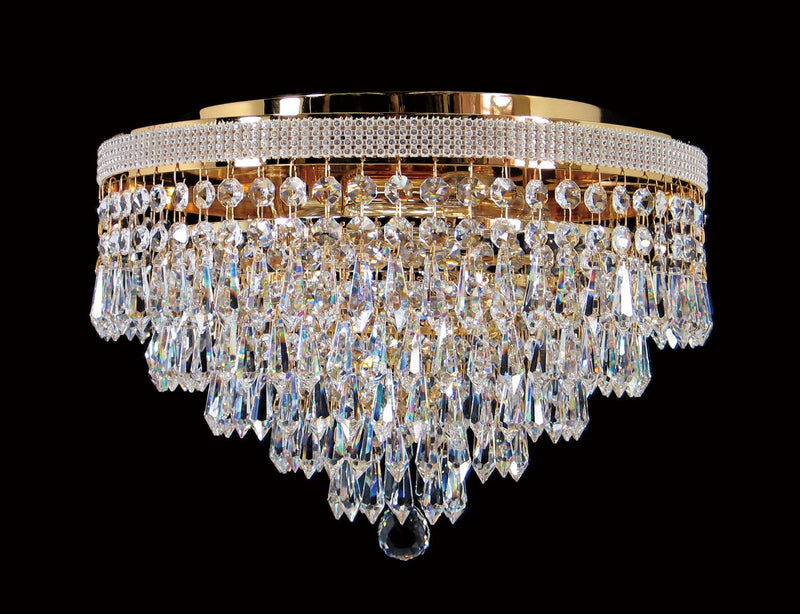 "8080 Crystal Flush Mount Light 13"" 4 Light - Asfour Crystal [C-8080-13""-14-401]"