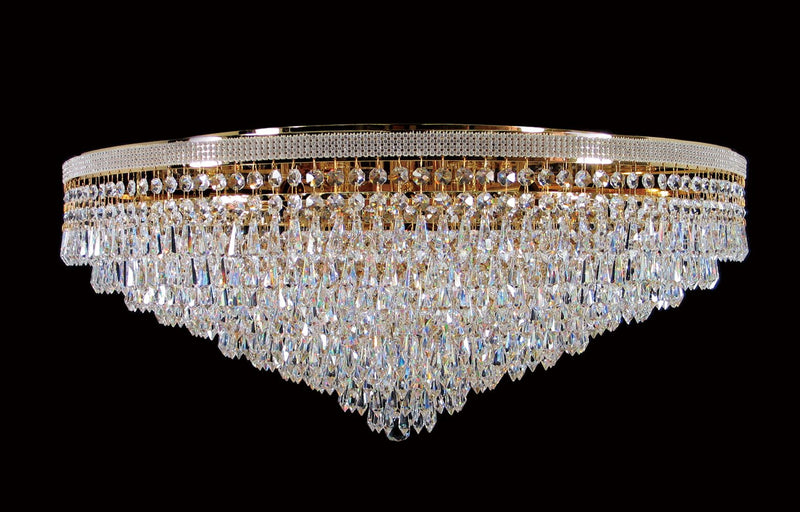 "8080 Crystal Flush Mount Light 29"" 12 Light - Asfour Crystal [C-8080-29""-14-401]"