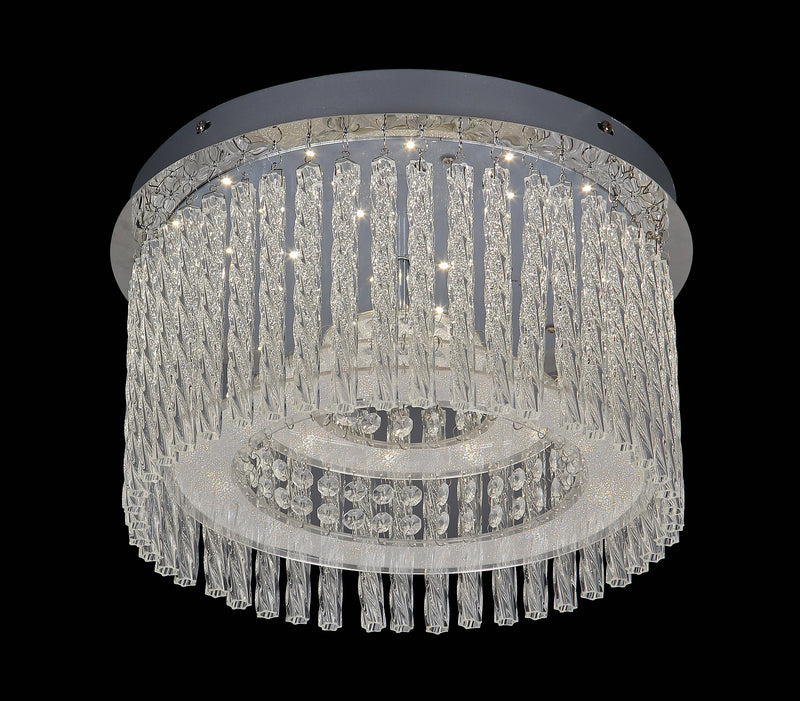 "6133 LED Crystal Flush Mount Light - 15"" 18W [D6133-LED-18W]"