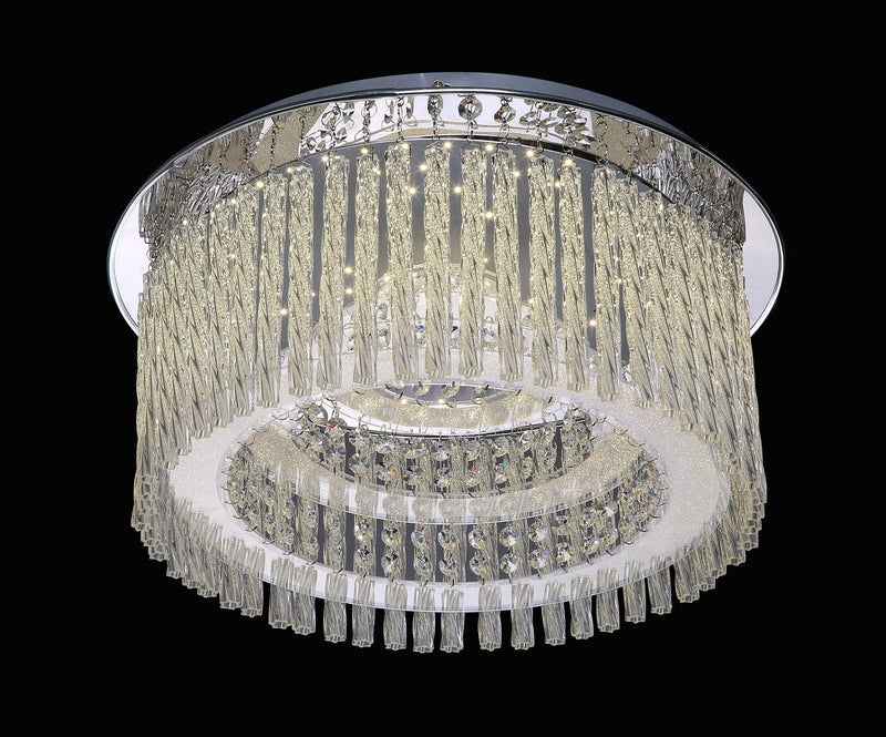 "6133 LED Crystal Flush Mount Light - 18"" 28W [D6133M-LED-28W]"