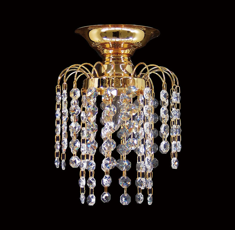 "HLC 6"" Crystal Batten Fix Ceiling Light (DIY) - Asfour Crystal 14mm Beads [HLC-6""-14]"