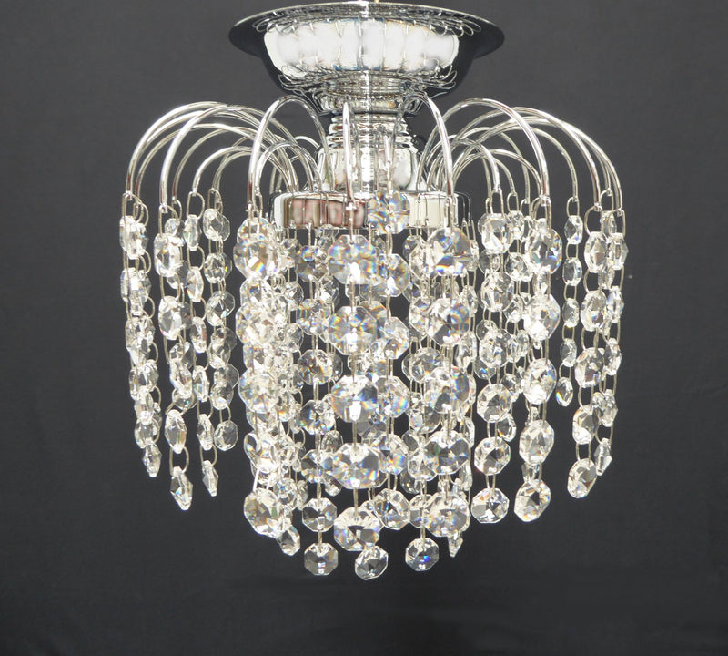 "HLC 8"" Crystal Batten Fix Ceiling Light (DIY) - Asfour Crystal 14mm Beads [HLC-8""-14]"