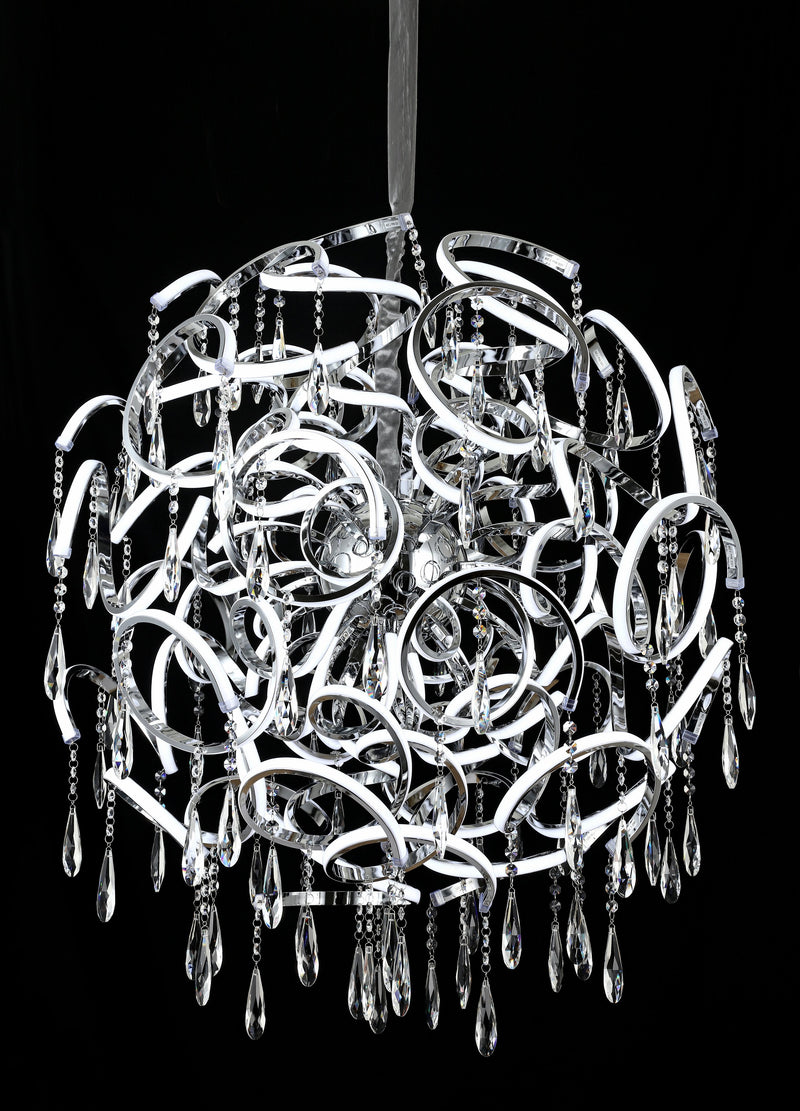"Jupiter 35.5"" 260W LED Pendant Light with Asfour Crystal [Jupiter-90-260W+Crystal]"