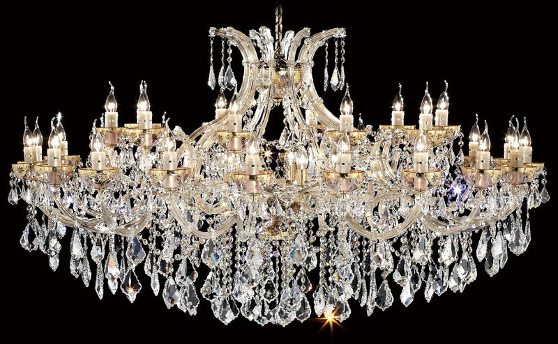 "6611 Crystal Pendant Light - 64"" 35 Light - Asfour Crystal Chandelier [No.1-6611-64""-20+10L+(5L)-911]"