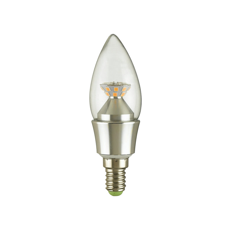 LED Plain Candle Bulb - 5W E14 Silver