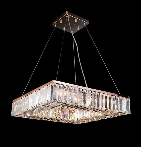 "102 Crystal Semi Flush Mount Light 24"" Square 12 Light - Asfour Crystal [S-102(610-4"")-24""x24""-176]"