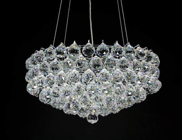 "1031 Crystal Semi Flush Mount Light 18"" 8 Light - Asfour Crystal [S-1031-18""-40mm-151]"