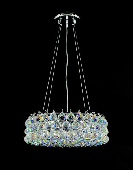 "1033 Crystal Pendant Light 18"" 8 Light - Asfour Crystal Chandelier [S-1033-18""-40mm-151(AB Colour)]"